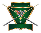 Pool or Billiards Emblem Design