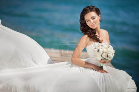 Beautiful bride in wedding day In bridal dress