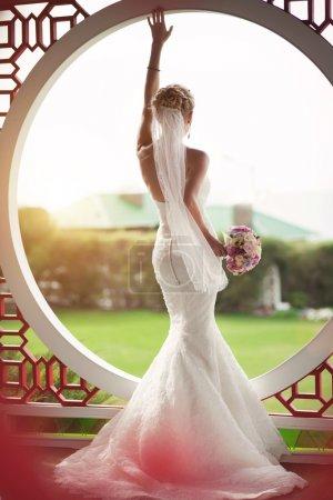 Beautiful bride in wedding day