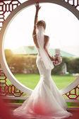 Krásná nevěsta ve svatební den
