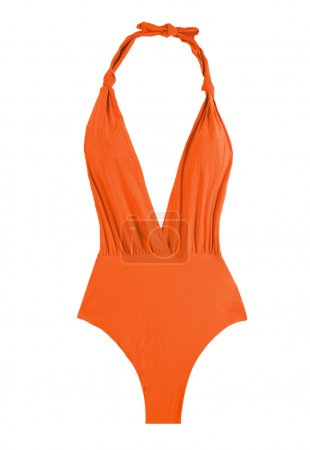 Orange female swimsuit