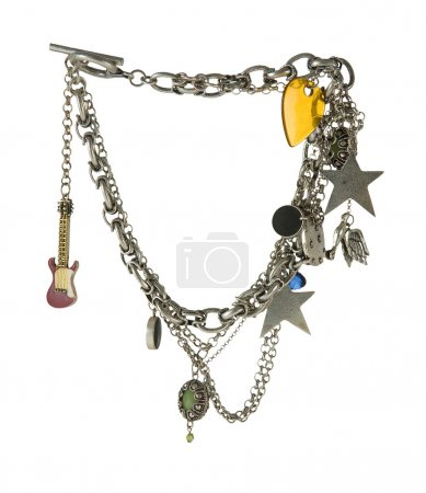 Chains necklace with lots of pendants