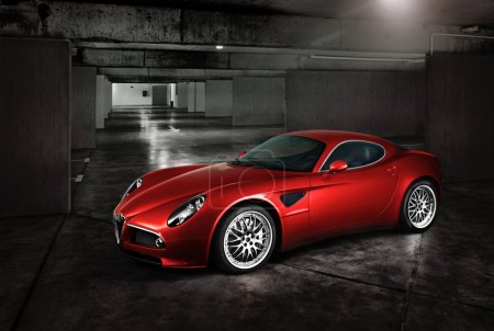 Photo for Italian sports red car in the underground parking - Royalty Free Image