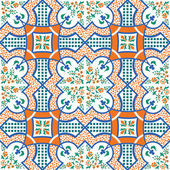 Vector illustration of original sicilian ceramics pattern
