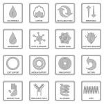 Set of 16 gray vector mattress labels EPS 8 format...