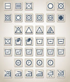 Complete vector set of 37 washing and laundry icons