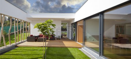 modern home with privat garden