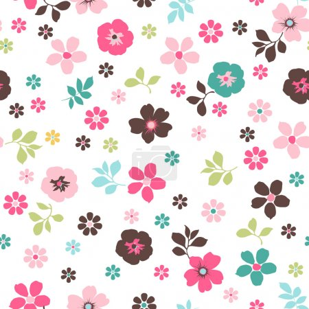 Illustration for Tiny floral seamless pattern - Royalty Free Image