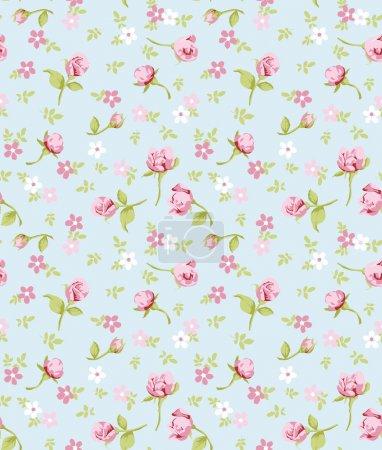 vintage flower seamless pattern background