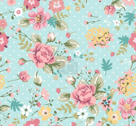 Illustration for Seamless summer floral pattern - Royalty Free Image