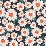 Seamless flower,daisy print pattern background...