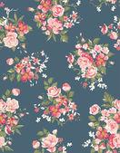 Floral, Blumen nahtloser Vektor Hintergrundmuster