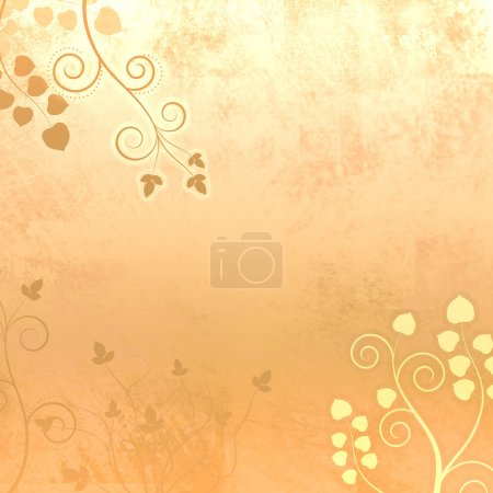 Soft Peach Curly Leaves Background Texture