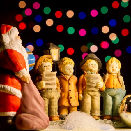 Choir singing christmas carols
