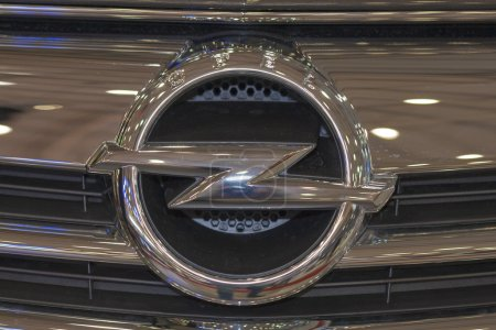 Opel logo on Cascada car model hood