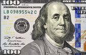 Portrait of Benjamin Franklin from one hundred dol