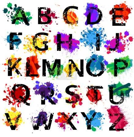 Illustration pour Lettres de l'alphabet grunge - image libre de droit