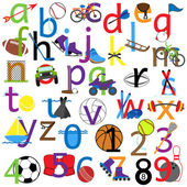 Lowercase and Numbers Sports Alphabet