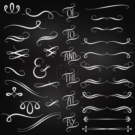 Illustration for Vector Collection of Chalkboard Style Words, Decoration, Ornaments and Dividers - Royalty Free Image
