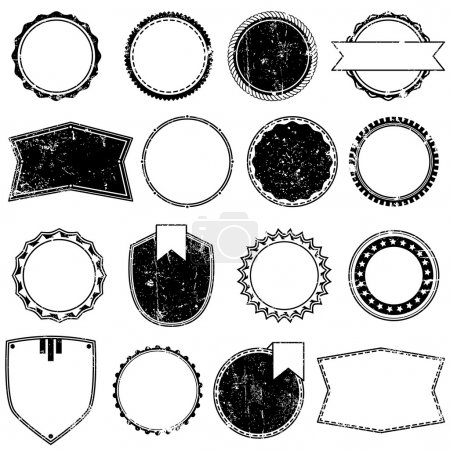 Vector Collection of Grunge Style Badges or Stamps