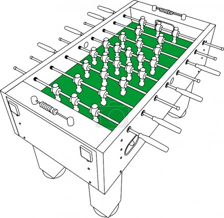 Table Football And Soccer Vector