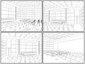 Conference Hall Interior Vector