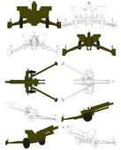 Cannon Field Artillery Vector