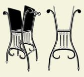 Antique Chair Rack Isolated Illustration Vector