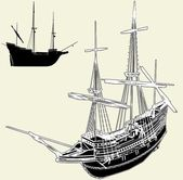 The Ancient Ship Vector 04