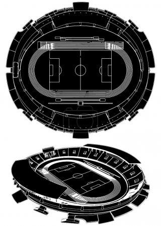 Football Soccer Stadium Vector 02