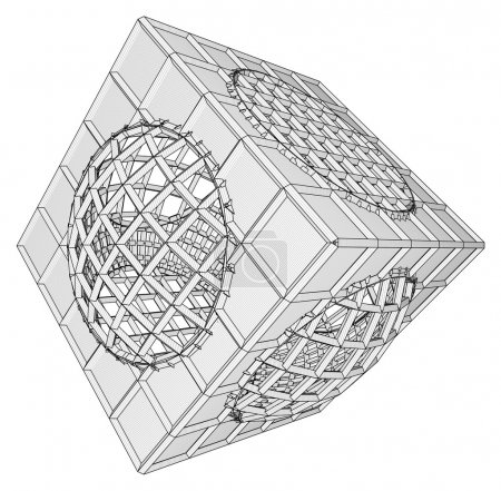 Cage Box Cube Vector