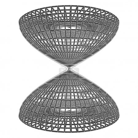 Structural Construction Of Hourglass Cage Vector