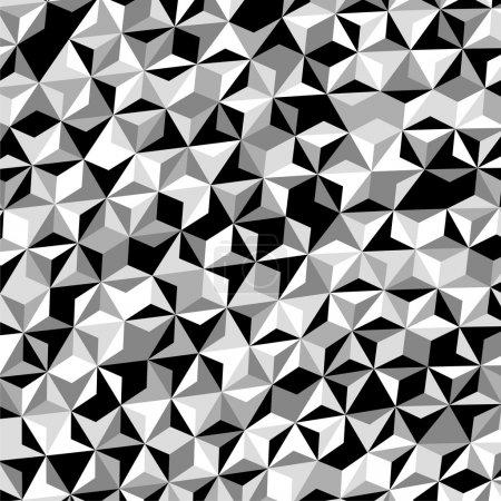 Illustration pour Vecteur de motif triangle gris blanc noir - image libre de droit