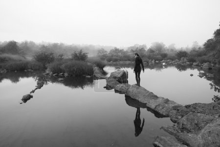 Black and White Landscape in India (minimalism)