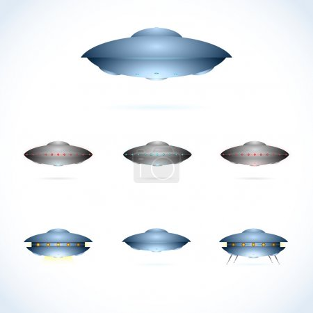 Space collection, flying saucers