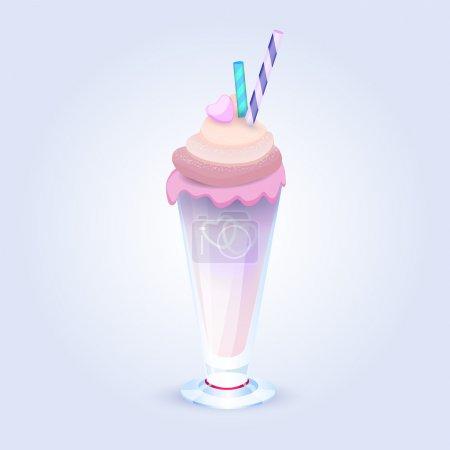 Illustration pour Illustration vectorielle du milk shake . - image libre de droit