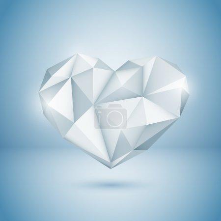 Illustration pour Diamond Heart. Illustration vectorielle . - image libre de droit