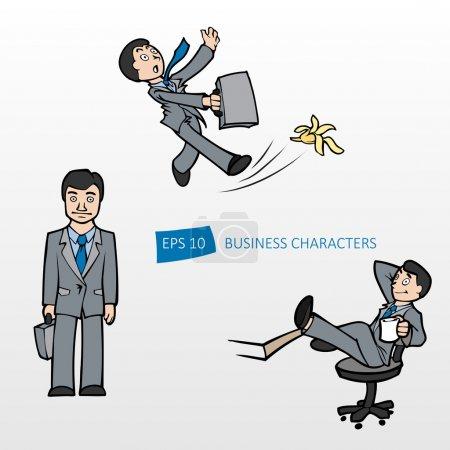 Illustration for Vector illustration of three businessmen. - Royalty Free Image