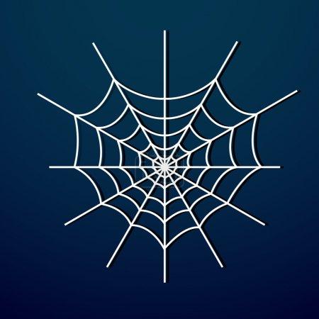 Illustration pour Vecteur toile d'araignée sur fond sombre . - image libre de droit