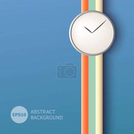 Illustration for Abstract background with clock - Royalty Free Image