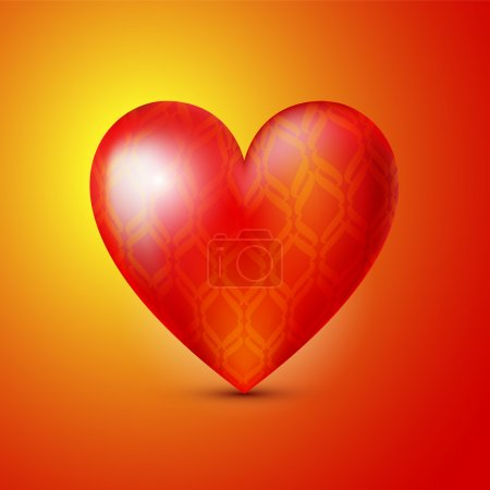 Vector background with red heart.