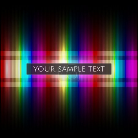 Vector rainbow background with sample text.