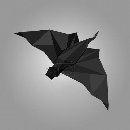 Illustration pour Illustration vectorielle de chauve-souris origami . - image libre de droit
