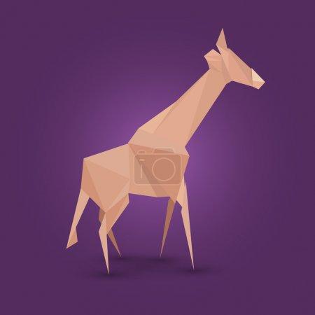 Illustration pour Illustration vectorielle de girafe origami . - image libre de droit