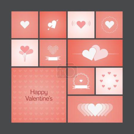 Grußkarten mit Herz zum Valentinstag