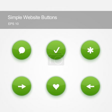 Set of buttons for website or app.