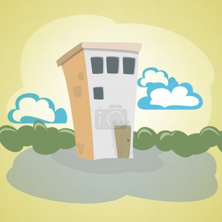 Vector illustration of a stone house.