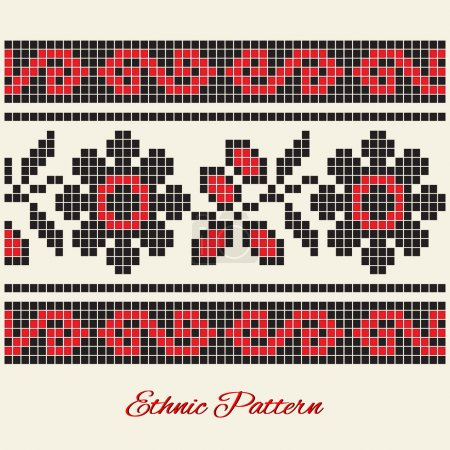 Illustration for Vector ethnic pattern. Vector illustration. - Royalty Free Image