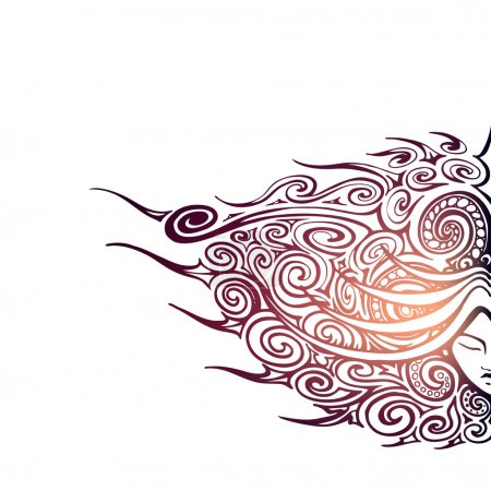 Illustration for Vector background with abstract face. - Royalty Free Image