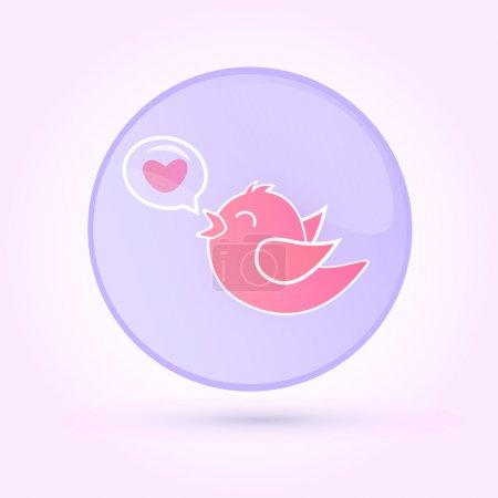 Illustration pour Illustration vectorielle de l'oiseau amoureux . - image libre de droit